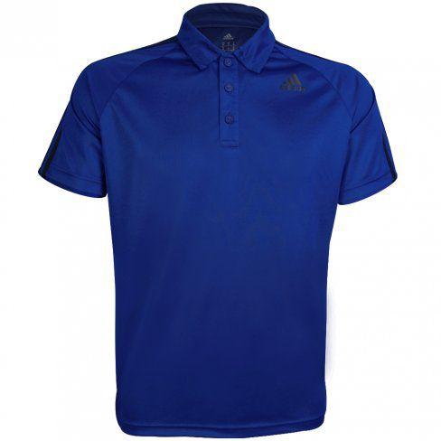 Polo Adidas Masculina D2M Stripes - BK2599 - Azul