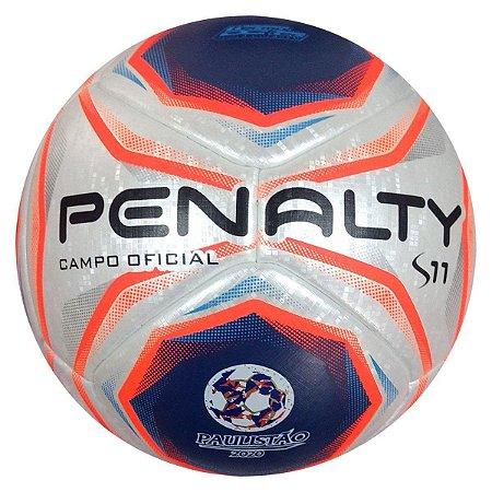 Bola de Futebol Campo Penalty S11 R1 X - FPF 2020 - Branco e Laranja