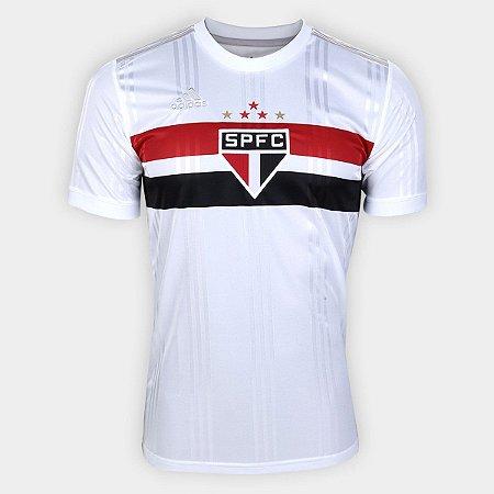 Camisa São Paulo I 20/21 s/n° Torcedor Adidas Masculina - Branco e Vermelho