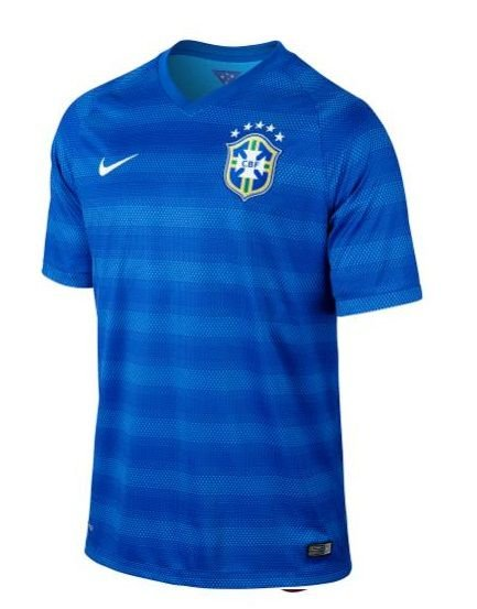 Camiseta Masculina Nike 575282-493 Cbf ss Away Stadium Jsy Azul