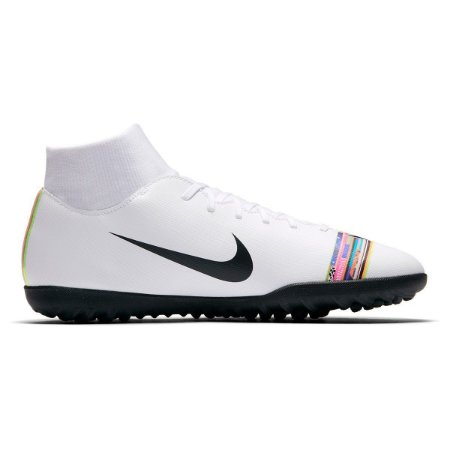 Chuteira Society Nike Mercurial Superfly 6 Club CR7 TF - Branco e Preto