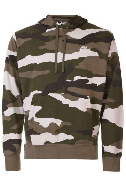 Blusão Moletom Flanelado Fechado Nike Sportswear Ns CJ4543-222
