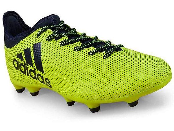 Chuteira Adidas Campo S82366 X17.3 fg Limão/marinho