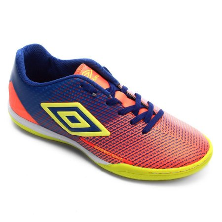 Chuteira Futsal Speed Sonic Umbro - Coral e Azul