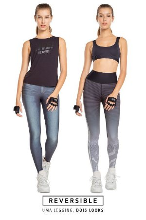 Calça Legging Jeans Reversible Motion 83679
