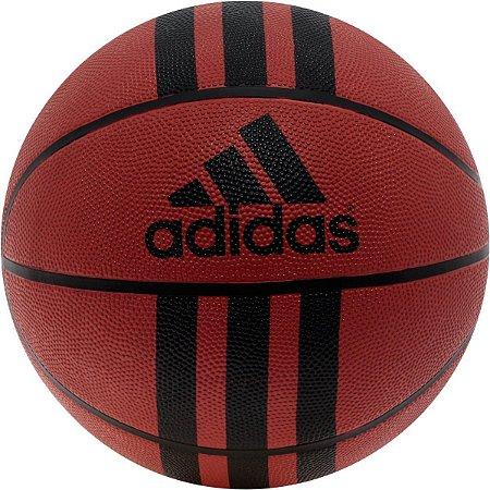 Bola Basquete Adidas 3 Stripe D29.5 - Marrom e Preto 218977