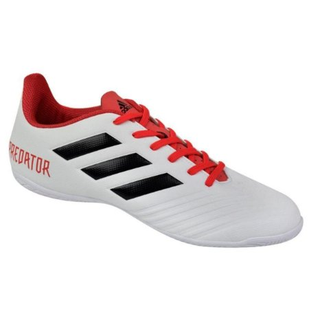 Chuteira Futsal Adidas Predator 18.4 IN - Preto e Branco CP9931