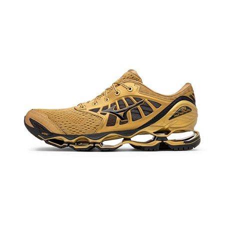 Tênis Mizuno Wave Prophecy 9 Golden Run - Dourado - Unissex