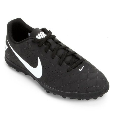 Chuteira Society Nike Beco 2 TF - Preto e Branco CZ0446-001