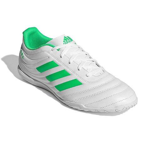 Chuteira Futsal Adidas Copa 19 4 IN - Branco e Verde D98075