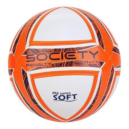 Bola de Futebol Society Penalty Matis Duotec IX - Branco e Azul
