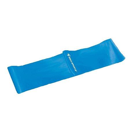 Faixa Elástica Gold Sports Omega Forte - Azul Claro
