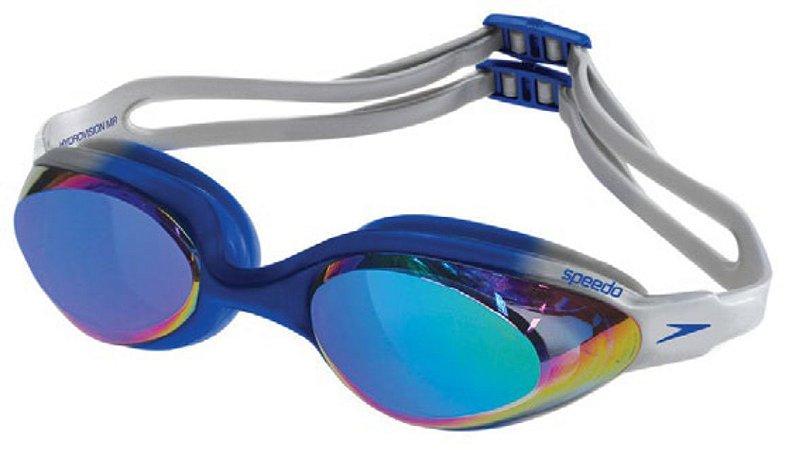 Óculos Natação Speedo Hydrovision Mirror - Preto Cinza