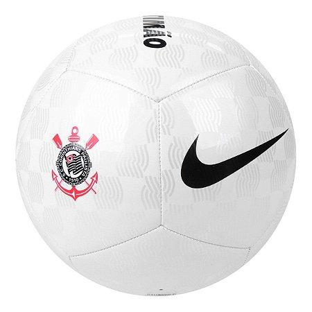 Bola de Futebol Campo Nike Corinthians Pitch - Branco e Preto CQ8061-100