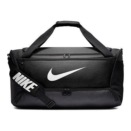 Mala Nike Brasilia M Duff 9.0 - 60 Litros - Preto e Branco BA5955-010