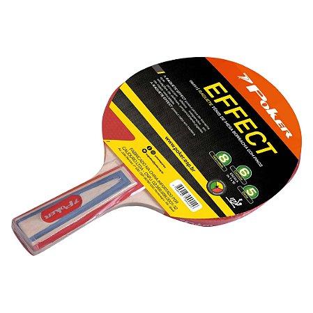 Raquete Tenis de Mesa Borracha Com Pinos Effect 09017 - Poker