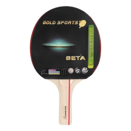 Raquete Tenis De Mesa Gold Sports Beta - Colorido