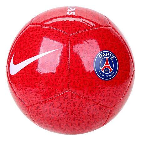 Bola de Futebol Campo Nike Paris Saint-Germain Pitch - Vermelho e Azul CW2454-657