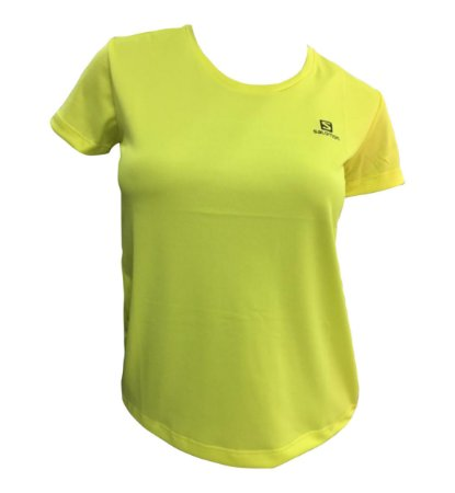 Camiseta Salomon Training IV F Amarelo