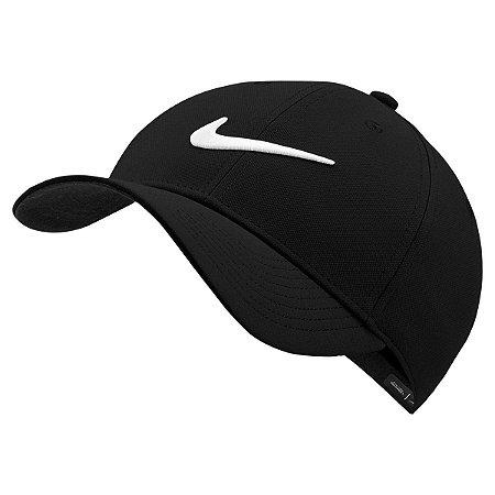 Boné Nike Dry L91 Sport Aba Curva - Preto e Branco CW6327-010