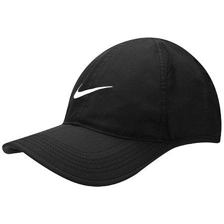 Boné Nike Aba Curva Featherlight - Preto 679421-010