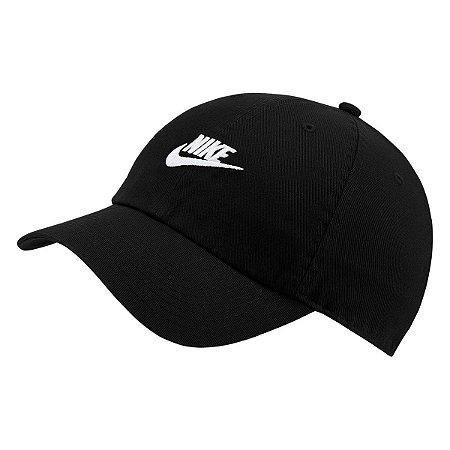 Boné Nike Sportswear H86 Futura Washed Aba Curva - Preto e Branco 913011-010