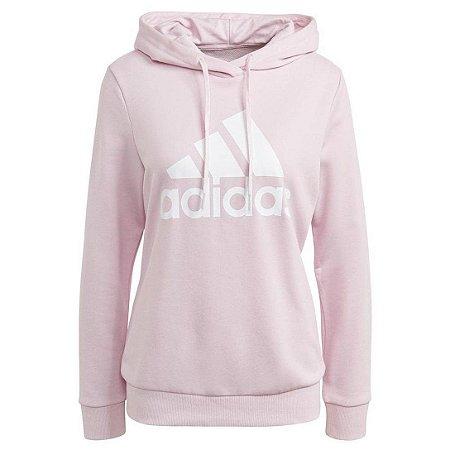 Moletom Adidas Essentials Relaxed Logo Feminino - Rosa