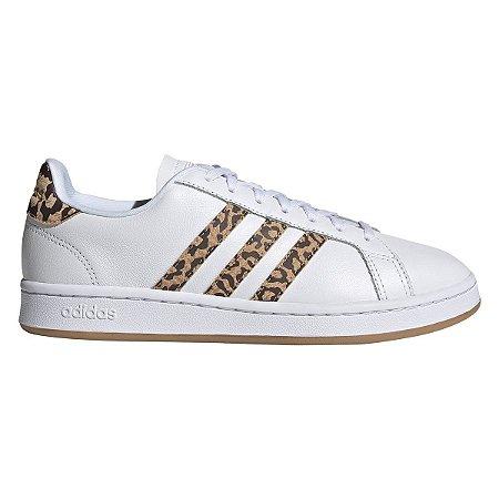 Tênis Adidas Grand Court Leopard Feminino - Branco