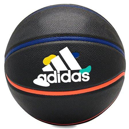 Bola de Basquete Adidas Harden Journey Preta e Colors - Tamanho 7