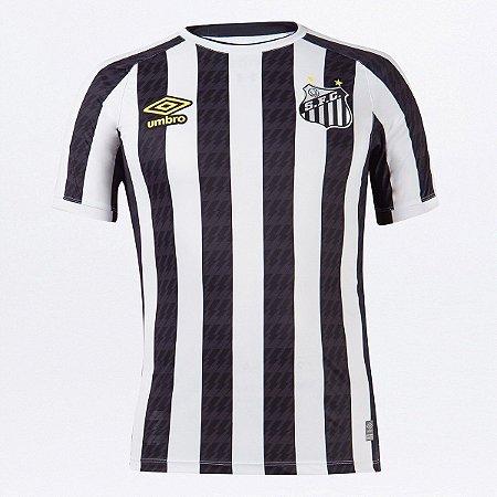 Camisa Santos II 21/22 s/n° Torcedor Umbro Masculina - Branco+Preto