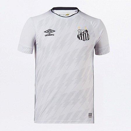 Camisa Santos I 21/22 s/n° Torcedor Umbro Masculina - Branco+Preto