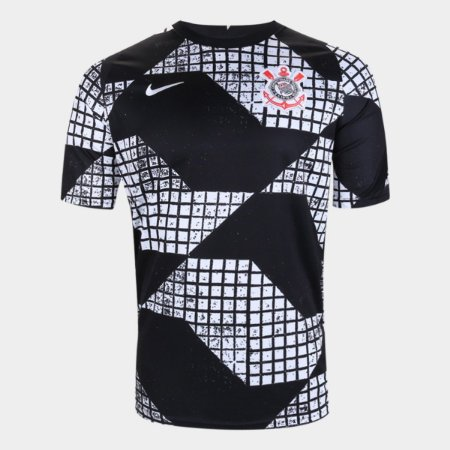 Camisa Corinthians IV 20/21 Nike Masculina - Preto+Branco