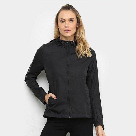 Jaqueta Corta Vento Adidas Own The Run Feminina - Preto