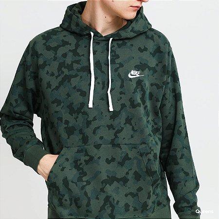 Blusão Nike Masculina NSW Club FT Hoodie Camuflada