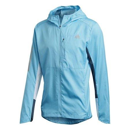 Jaqueta Corta Vento Adidas Own The Run Masculina - Azul+Branco