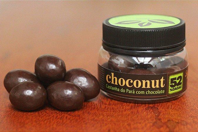 Castanha do Pará com chocolate amargo
