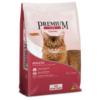 Ração Royal Canin Premium Cat Adultos Castrados 1kg
