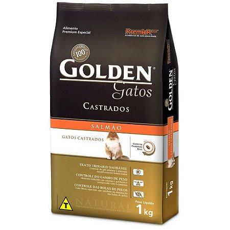 Ração Golden adultos gatos castrados sabor salmão