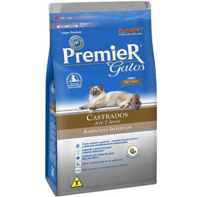 Ração Premier gatos adultos castrados até 7 anos - ambientes internos 1,5kg