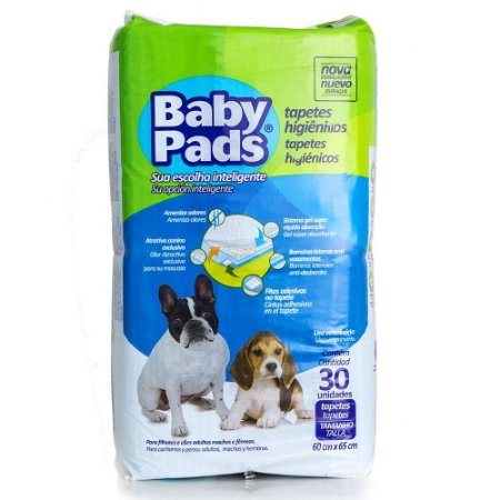Tapete higiênico Baby Pads 30 unidades