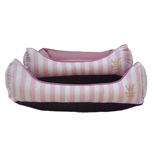 Cama Woof Retangular Listras Rosé