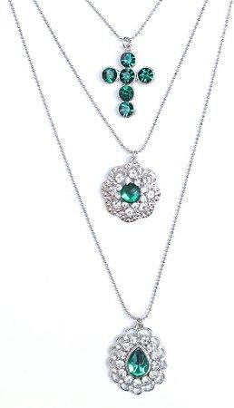 Mix de colares verde esmeralda