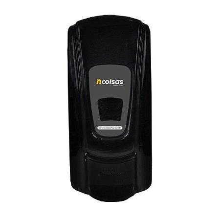 Dispenser para Sabonete Líquido/Álcool em Gel - Com Reservatório - Preto - Linha City - NCoisas
