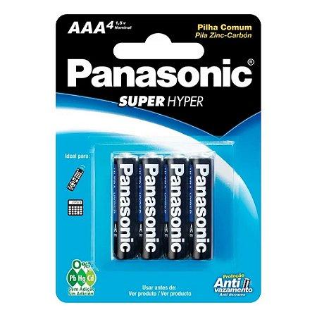 Pilha Palito AAA -com 4 unidades - Panasonic
