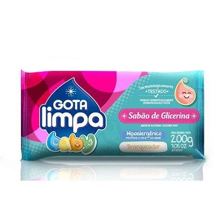 Sabão em Barra Glicerinado - Hipoalergênico Baby - 200g - Gota Limpa