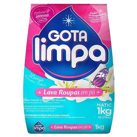 Lava Roupas em Pó - Leveza - 1Kg - Gota Limpa