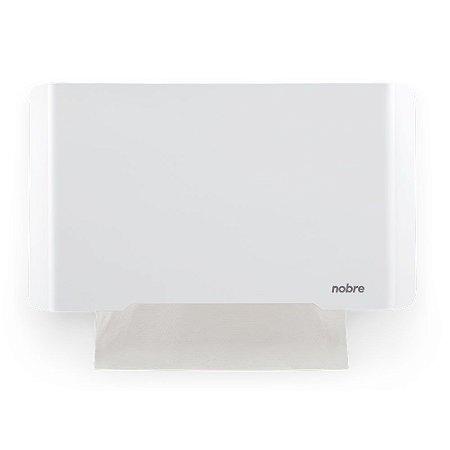 Dispenser Papel Toalha - Frente em Inox Branco - Linha Select - Nobre
