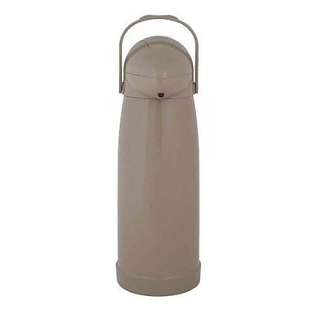 Garrafa Térmica de Pressão - Bege - 1,9 Litros - Mor