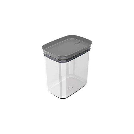 Organizador Hermético Retangular - Cinza - 1,5 litros - OU