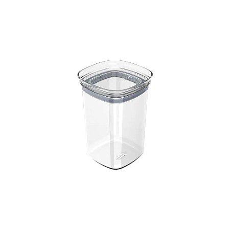 Organizador Hermético Retangular - Transparente - 1 litro - OU